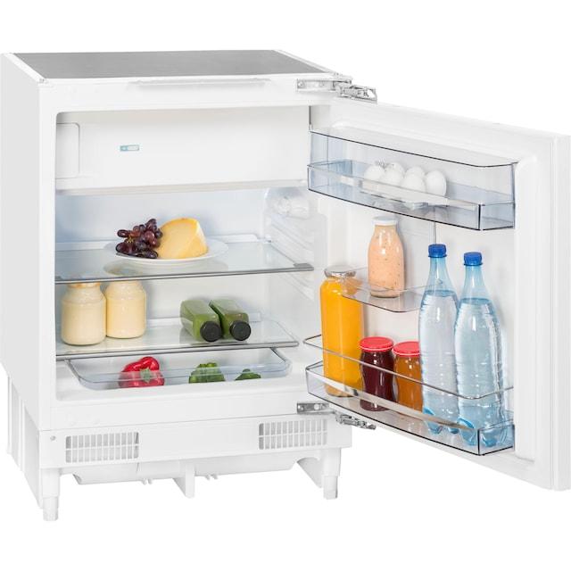 exquisit Einbaukühlschrank, 82 cm hoch, 59 cm breit
