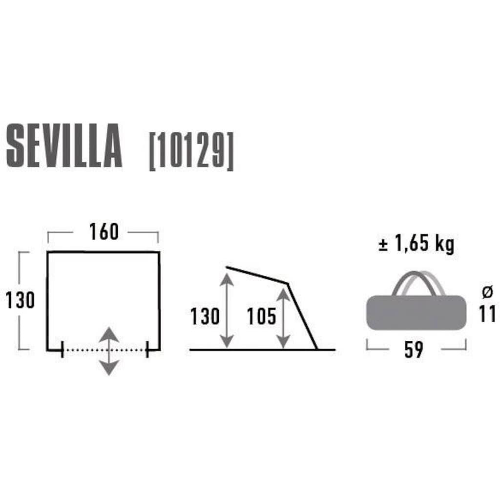 High Peak Strandmuschel »Sevilla«, (mit Transporttasche)