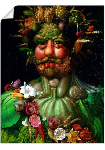 Artland Wandbild »Vertumnus (Kaiser Rudolf II.). 1590«, Porträts, (1 St.), in vielen... kaufen