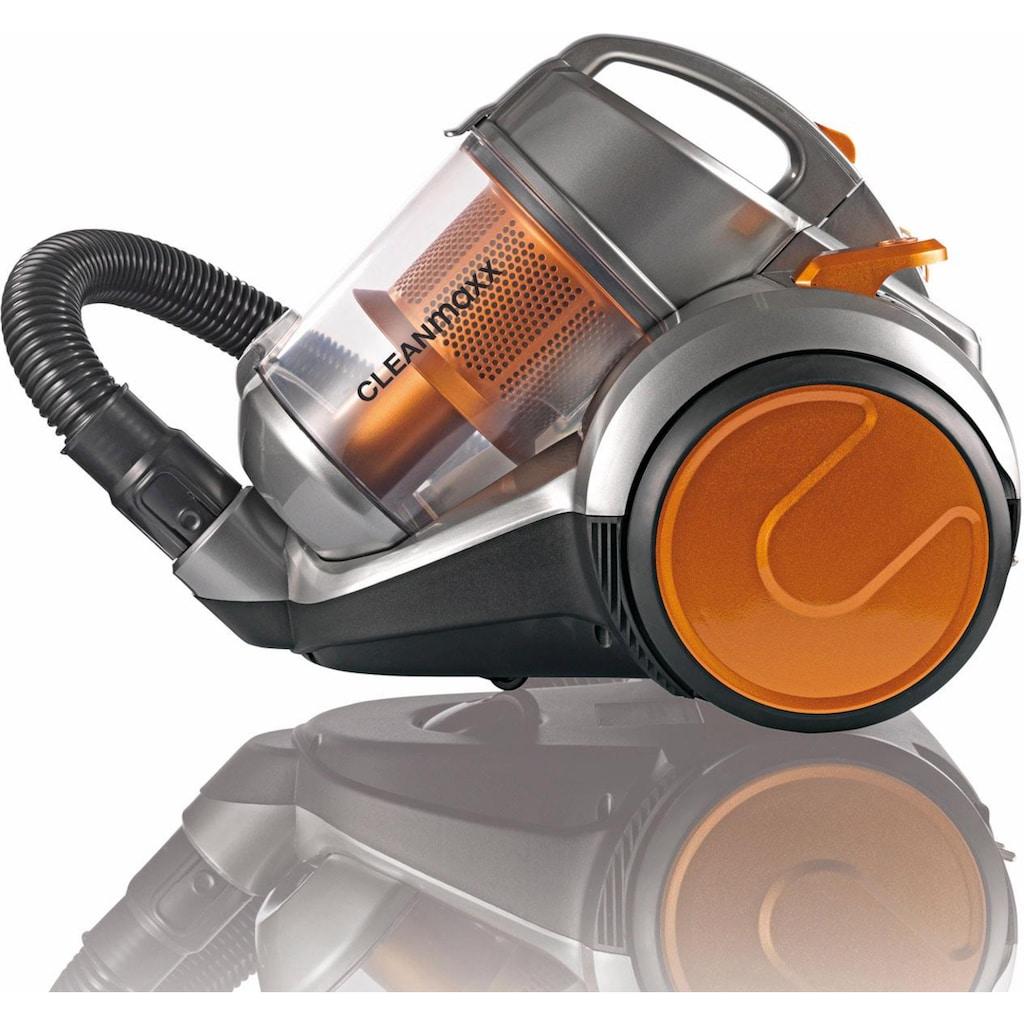 CLEANmaxx Bodenstaubsauger »Zyklon-Staubsauger Pet Star«, 700 W, beutellos, orange/silber