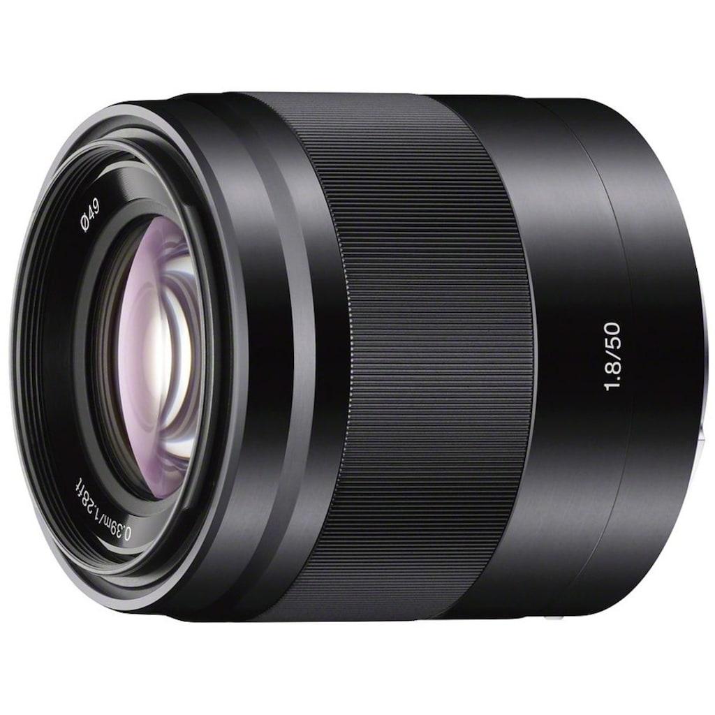 Sony Objektiv »SEL-50F18 E-Mount Standard Festbrennweite«, E 50mm F1.8, OSS, APS-C