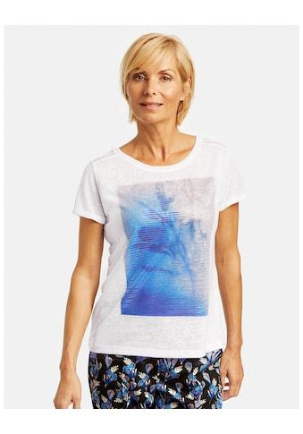 GERRY WEBER Kurzarmshirt »Shirt mit Folienprint« kaufen