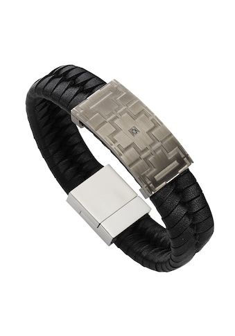 Zeeme Edelstahlarmband »Edelstahl 21cm Leder«, Armband kaufen
