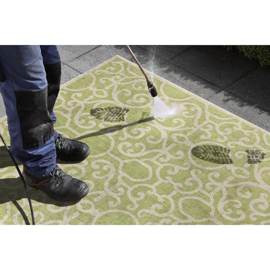 bougari Teppich »Nebo«, rechteckig, 4 mm Höhe, Flachgewebe, In- und Outdoor geeignet, Sisal-Optik, Für Terasse und Balkon, Wohnzimmer