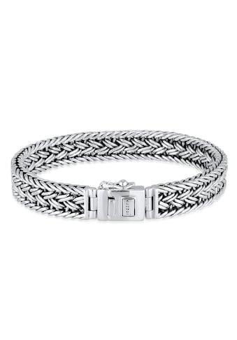 Kuzzoi Armband »Unisex Königskette Kastenverschluss 925er Silber« kaufen