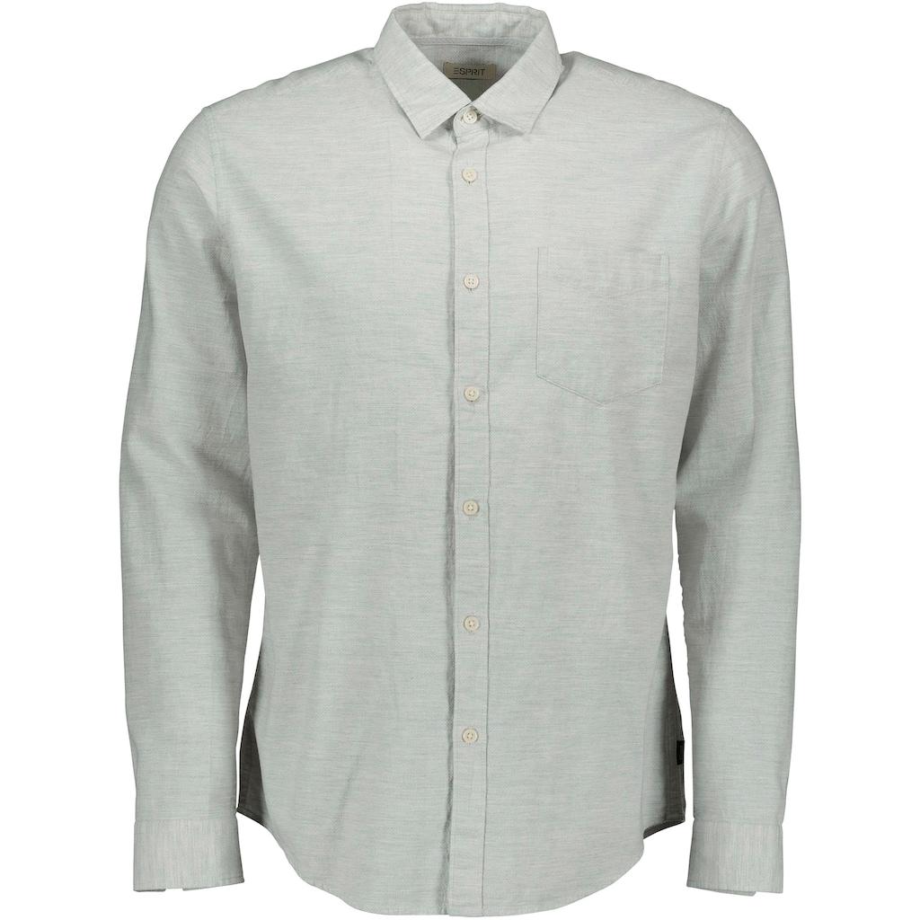 Esprit Langarmhemd, mit Brusttasche