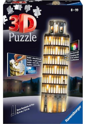 Ravensburger 3D-Puzzle »Schiefer Turm von Pisa bei Nacht«, mit Leuchtmodul inkl. LEDs;... kaufen
