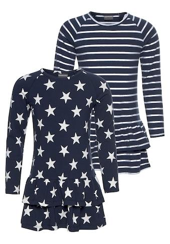 KIDSWORLD Jerseykleid, (Packung, 2 tlg.), mit Ringel und Sternen kaufen
