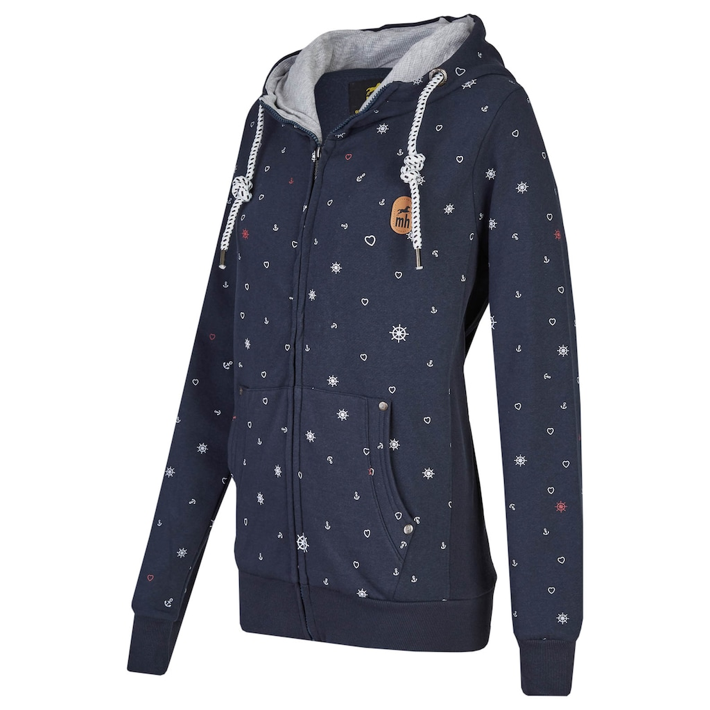 DEPROC Active Kapuzensweatshirt »KALMA Women«, mit Herzchenprint