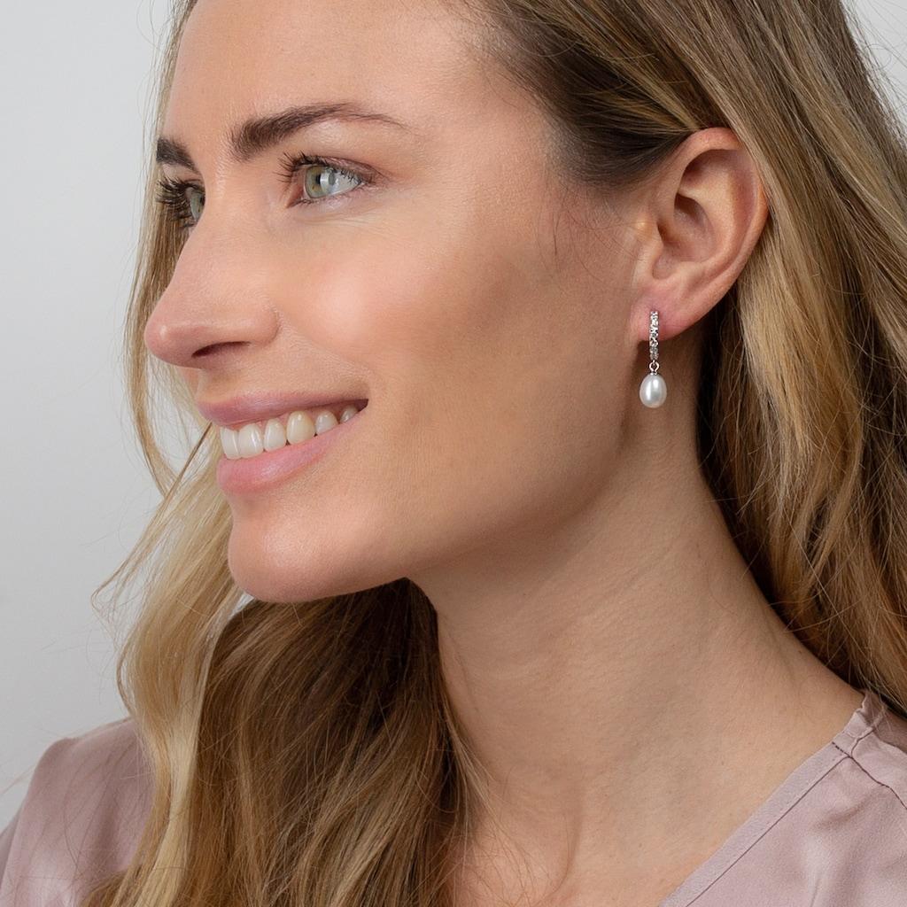 AILORIA Paar Ohrhänger »MAHO Ohrringe«, mit Süßwasserzuchtperlen