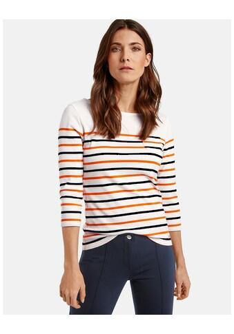 GERRY WEBER T - Shirt 3/4 Arm »Geringeltes 3/4 Arm Shirt« kaufen
