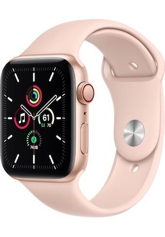 Apple Smartwatch »Apple Watch Series SE GPS + Cellular, Aluminium Gehäuse, 44 mm mit Sportarmband« ( kaufen