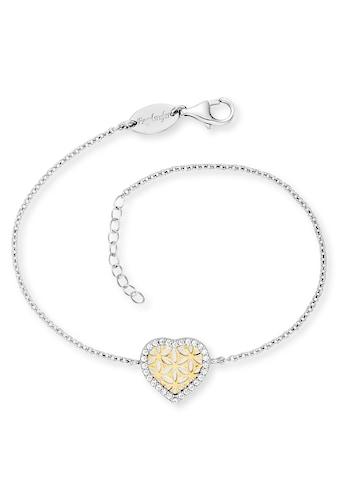 Engelsrufer Armband »Herz Lebensblume, ERB-HEARTLIFL-ZI-BIG«, mit Zirkonia (synth.) kaufen