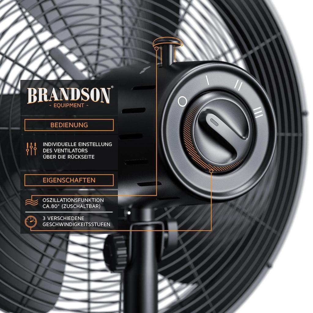 Brandson 50W Standventilator mit Dreibeinstativ