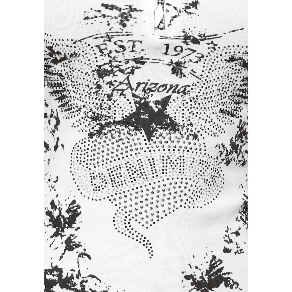 Arizona Tanktop »Rock'n'Roll«, mit Straßsteichnchen und Flügelzipper