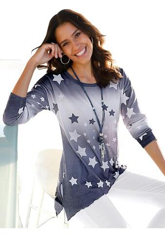 Classic Inspirationen Shirt mit glänzenden Ziersteinchen im Vorderteil kaufen