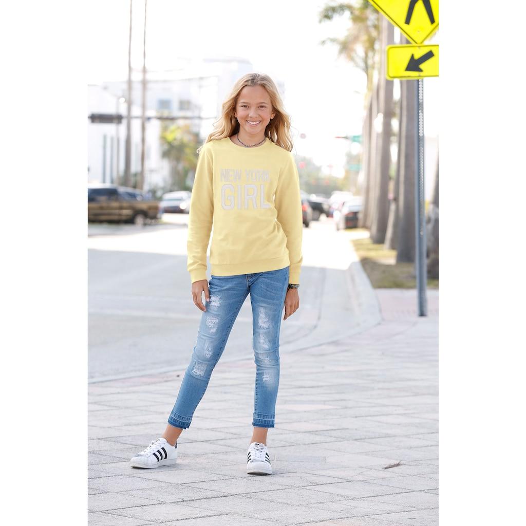 KIDSWORLD Sweatshirt »New York Girl«, mit Applikation