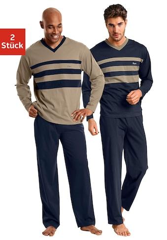 le jogger® Pyjama, (2 Stück), mit Colourblocks kaufen