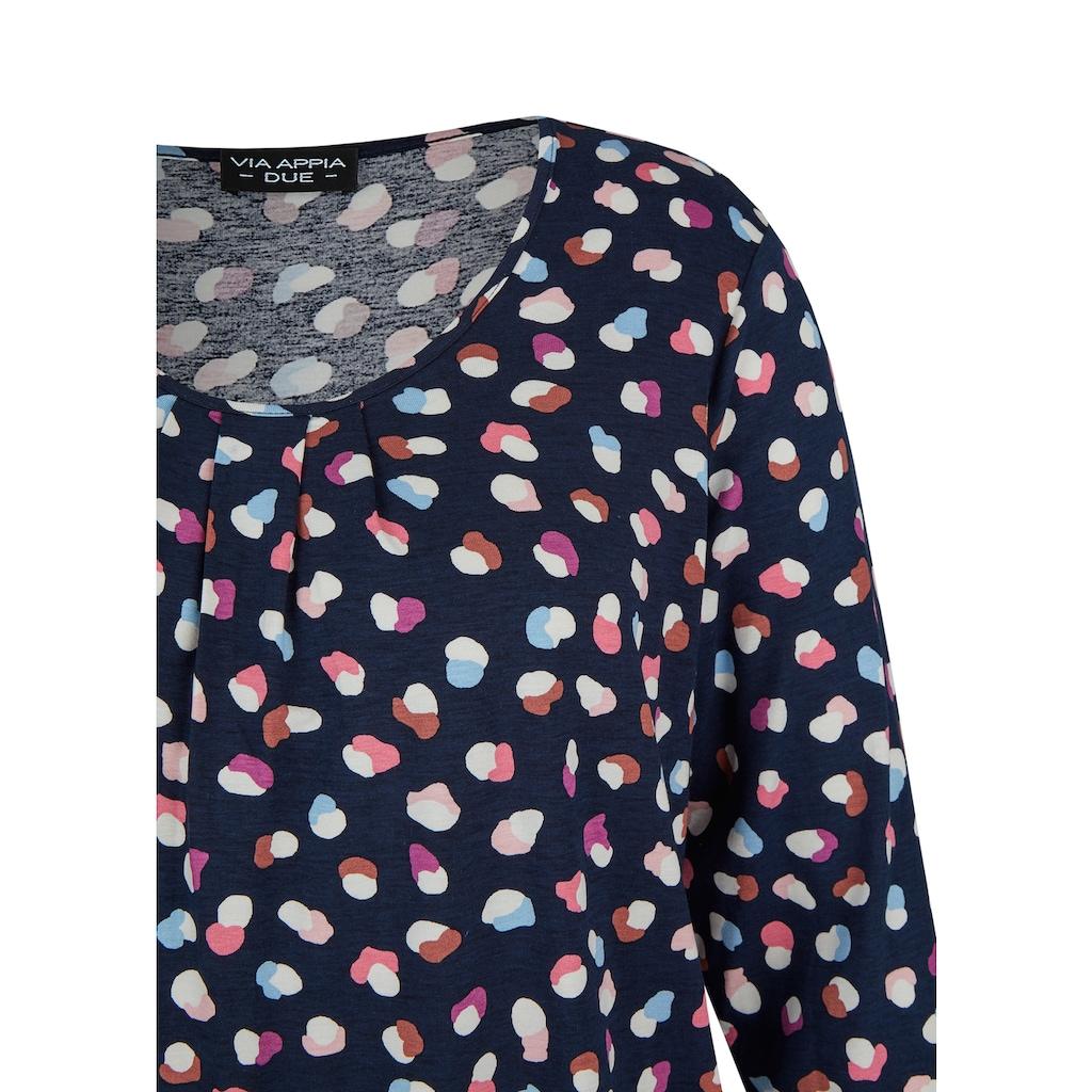VIA APPIA DUE 3/4-Arm-Shirt, mit Gummizug-Saum