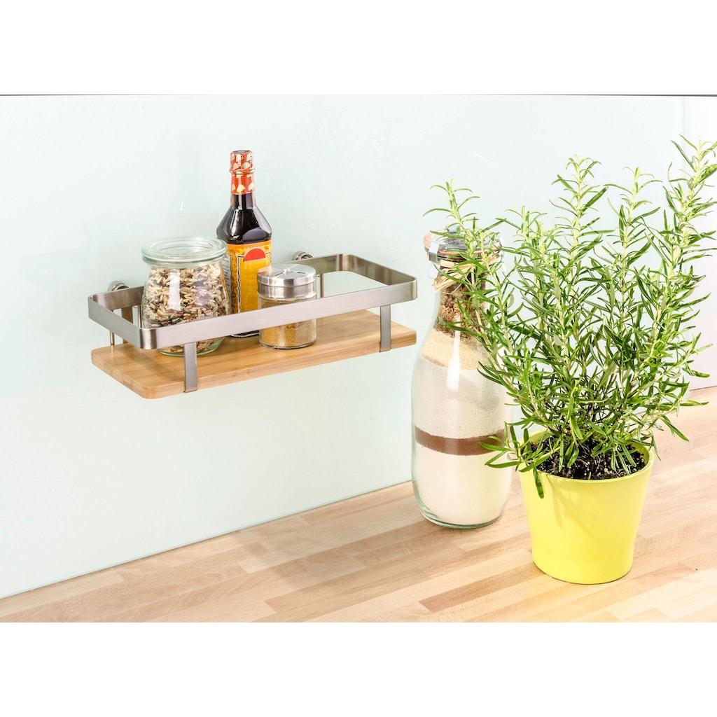 WENKO Gewürzregal »Premium«, mit Befestigung ohne Bohren, Gr. 25 x 12 cm