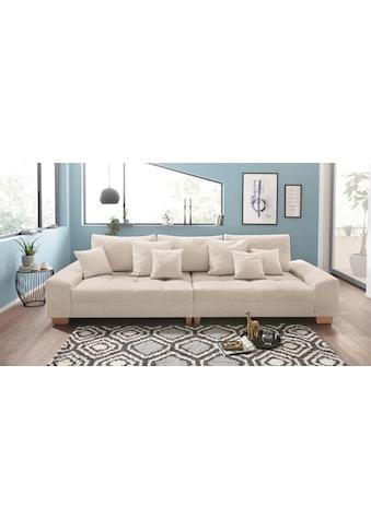 Nova Via Big-Sofa, wahlweise mit Kaltschaum (140kg Belastung/Sitz) und AquaClean-Stoff... kaufen