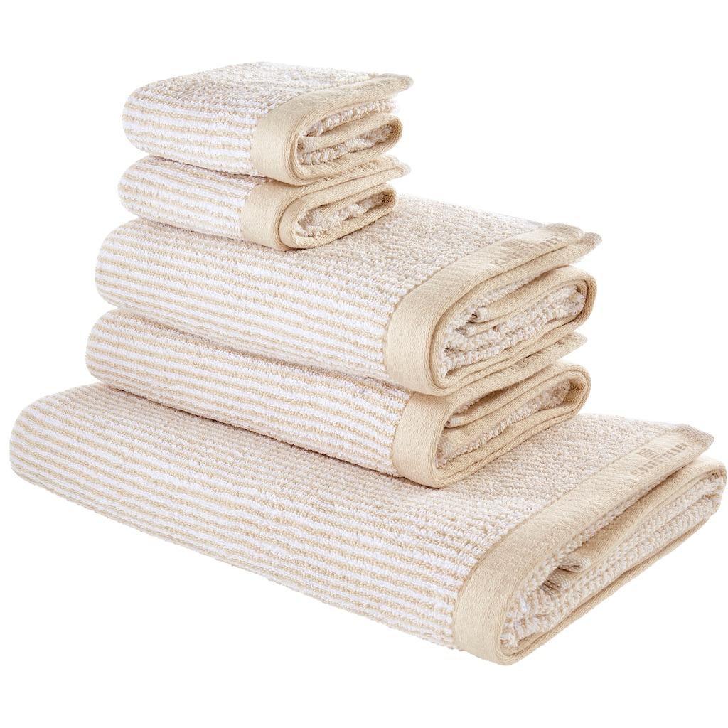 elbgestoeber Handtuch Set »Elbfrottee«, mit hochwertiger Logo Stickerei