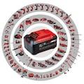 EINHELL Set: Akku-Winkelschleifer »AXXIO«, Power X-Change, 2,5 Ah, inkl. Akku und Schnellladegerät
