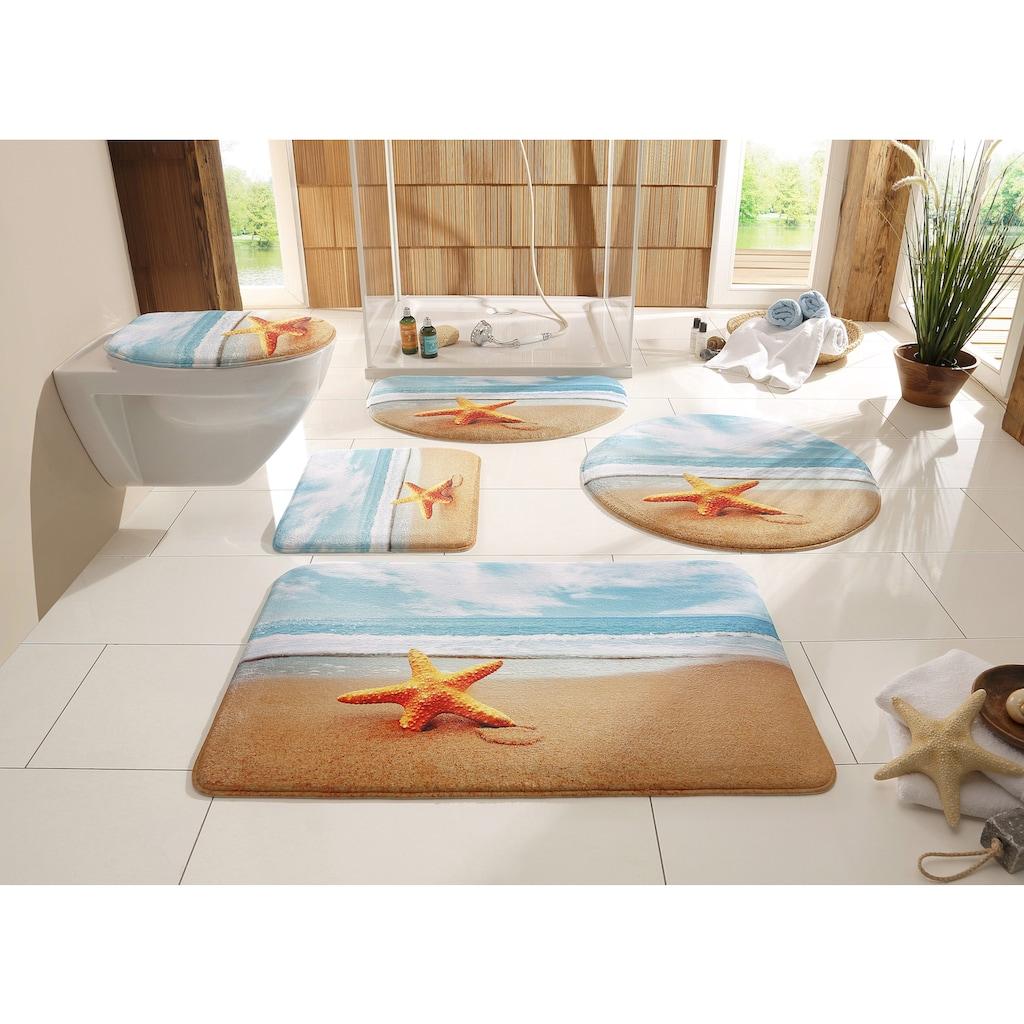 Badematte »Seestern«, my home, Höhe 14 mm, rutschhemmend beschichtet, fußbodenheizungsgeeignet