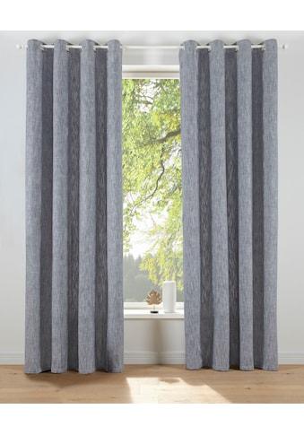 elbgestoeber Vorhang »Elbgarn«, Leinen Optik, Baumwolle, blickdicht, monochrom, basic kaufen