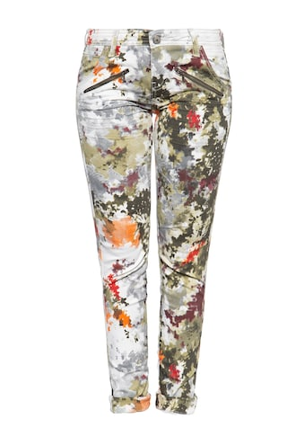 ATT Jeans Slim-fit-Jeans »Lola«, mit abstraktem Muster und Zier-Reißverschlüssen kaufen