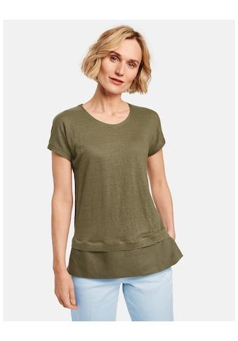 GERRY WEBER T - Shirt 1/2 Arm »Shirt mit Saumbesatz« kaufen