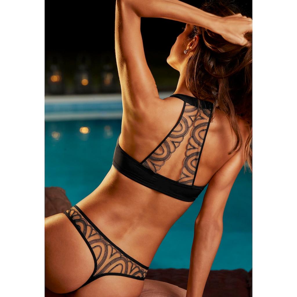 LASCANA String, mit verführerischem Netzmaterial in Tattoo-Optik
