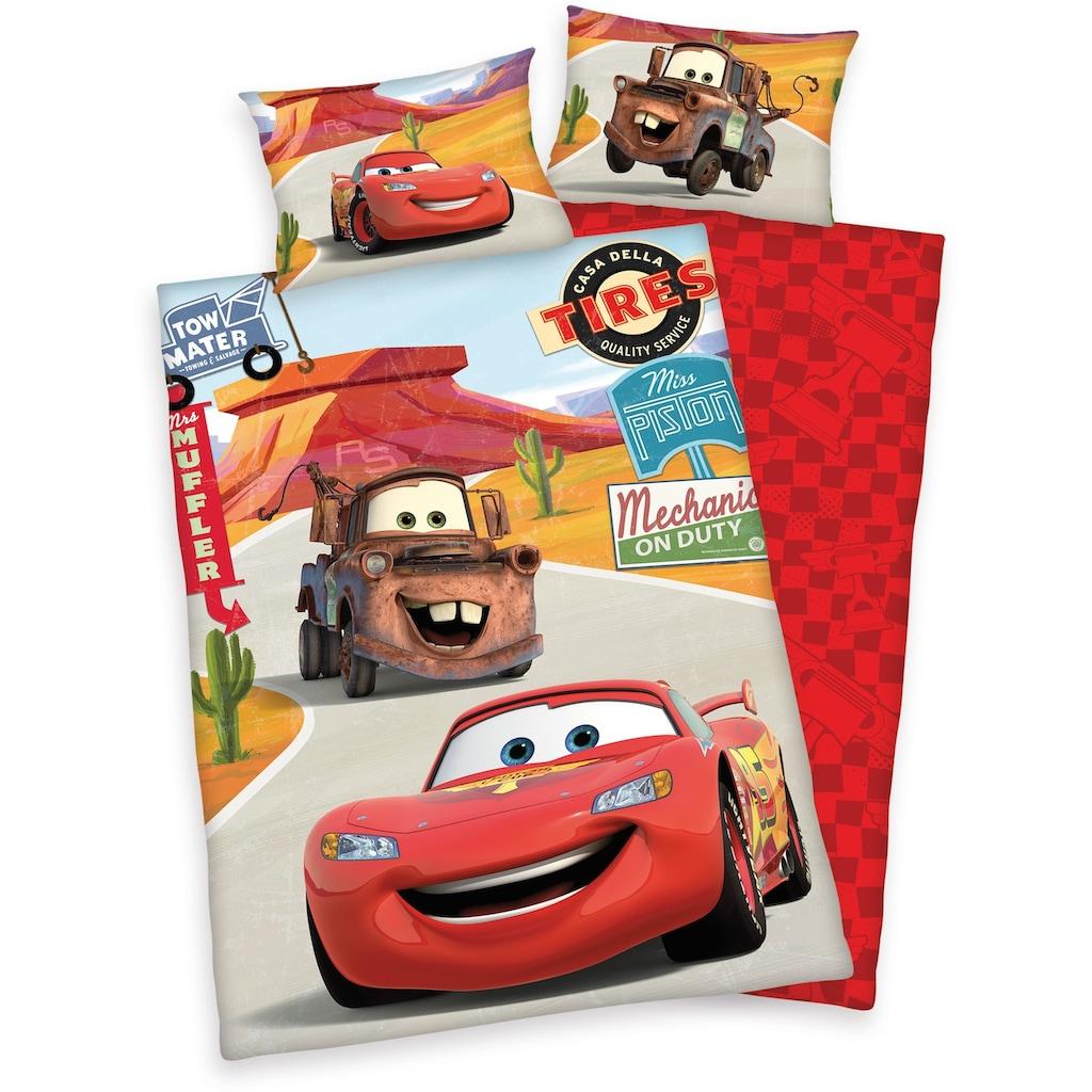 Disney Kinderbettwäsche »Cars on Road«, mit Automotiven