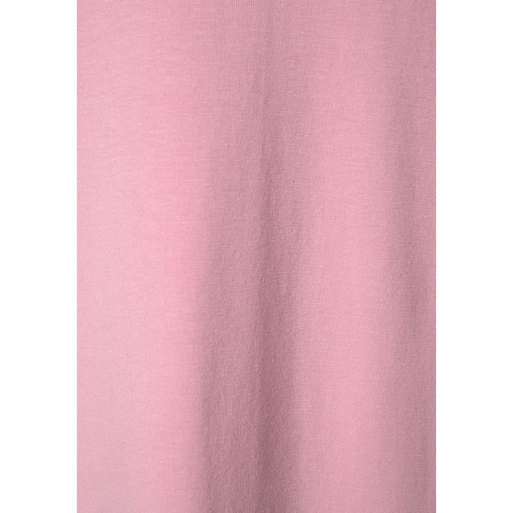 LASCANA Negligé, mit breitem Spitzeneinsatz und Zierschleife