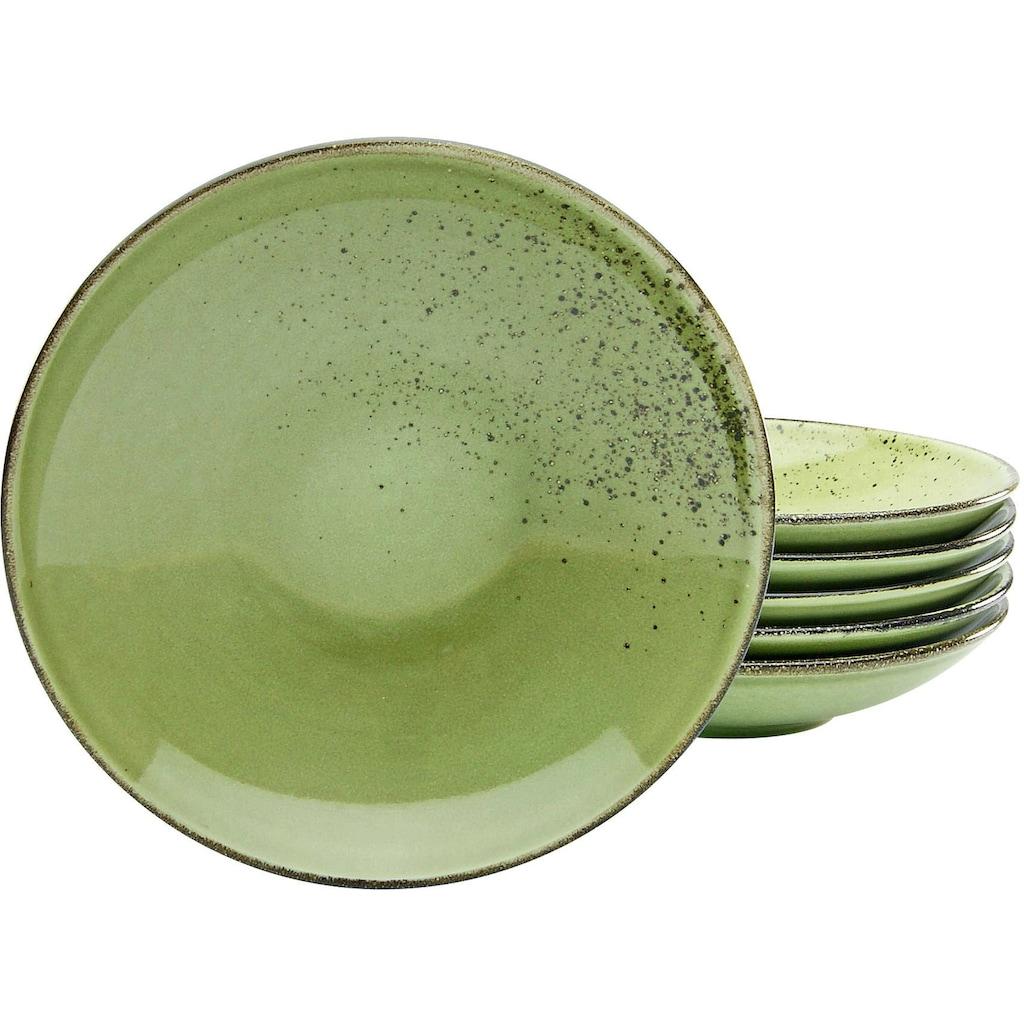 CreaTable Suppenteller »NATURE COLLECTION«, (Set, 6 St.), Ø 22 cm, Steinzeug