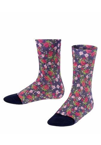 FALKE Socken »Flower Print«, (1 Paar), mit Lurexgarn kaufen
