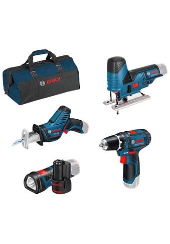 Bosch Professional Akku-Schrauber, mit 3 Werkzeugen, Akkus, Ladegerät und Werkzeugtasche kaufen