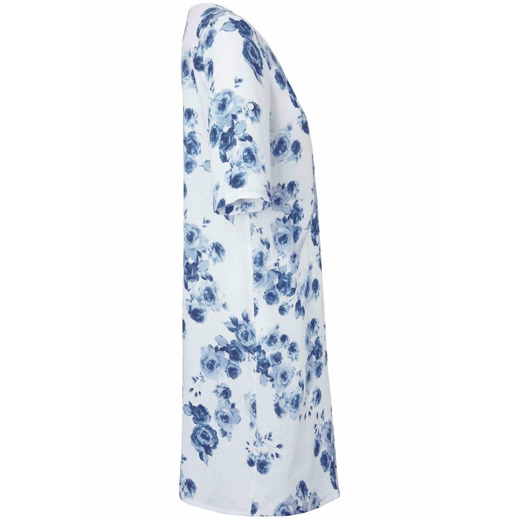 Anna Aura Abendkleid »Kleid mit 3/4-Arm aus 100% Leinen«, Biesen