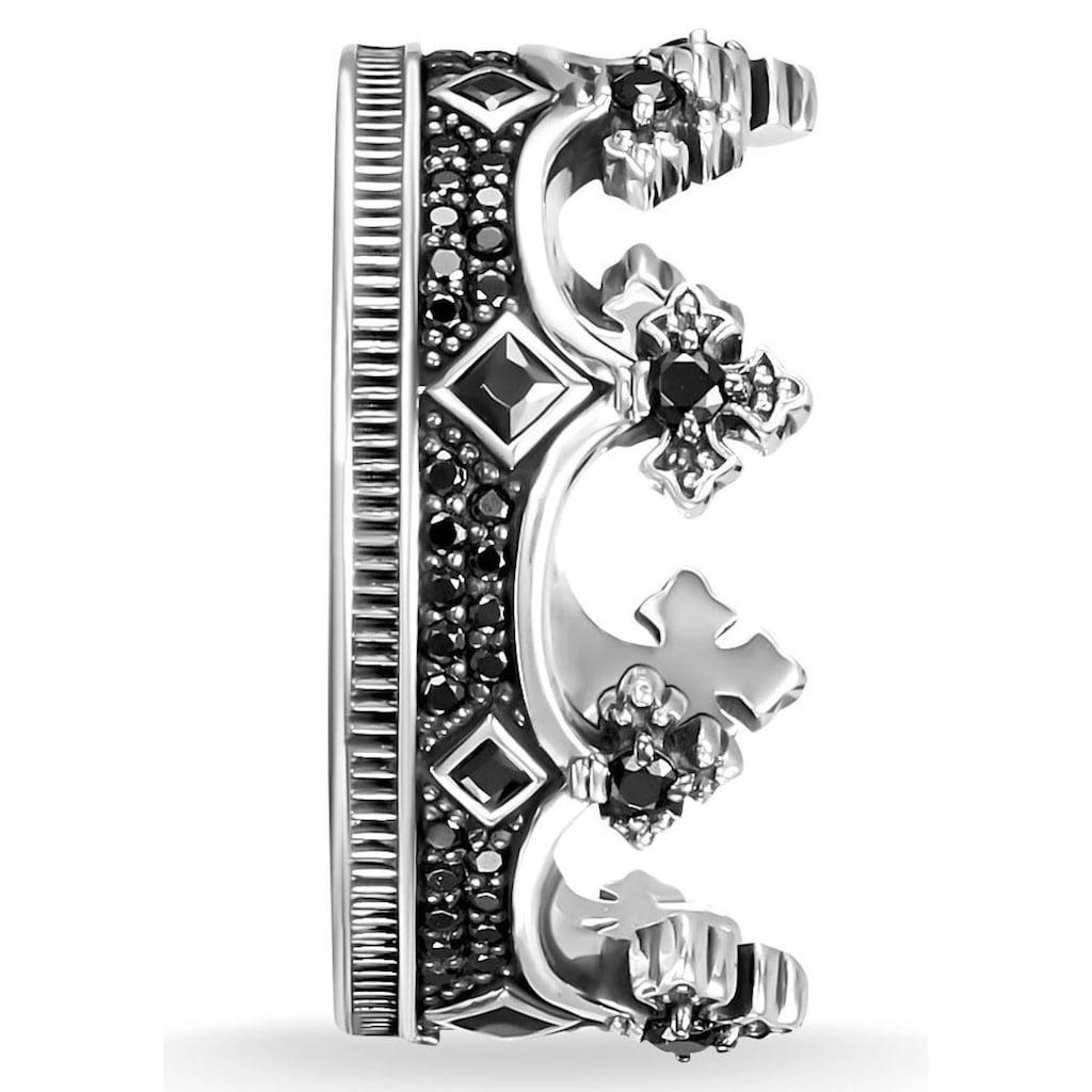 THOMAS SABO Silberring »TR2208-643-11-48, 50, 52, 54, 56, 58, 60, 62, 64, 66, 68, Krone«, mit Zirkonia