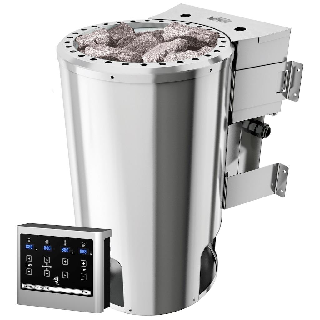 Karibu Sauna »Anni«, 3,6-kW-Bio-Plug & Play Ofen mit ext. Steuerung