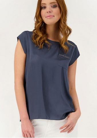 Monari Shirtbluse, mit seitlichen Glitzer-Streifen kaufen