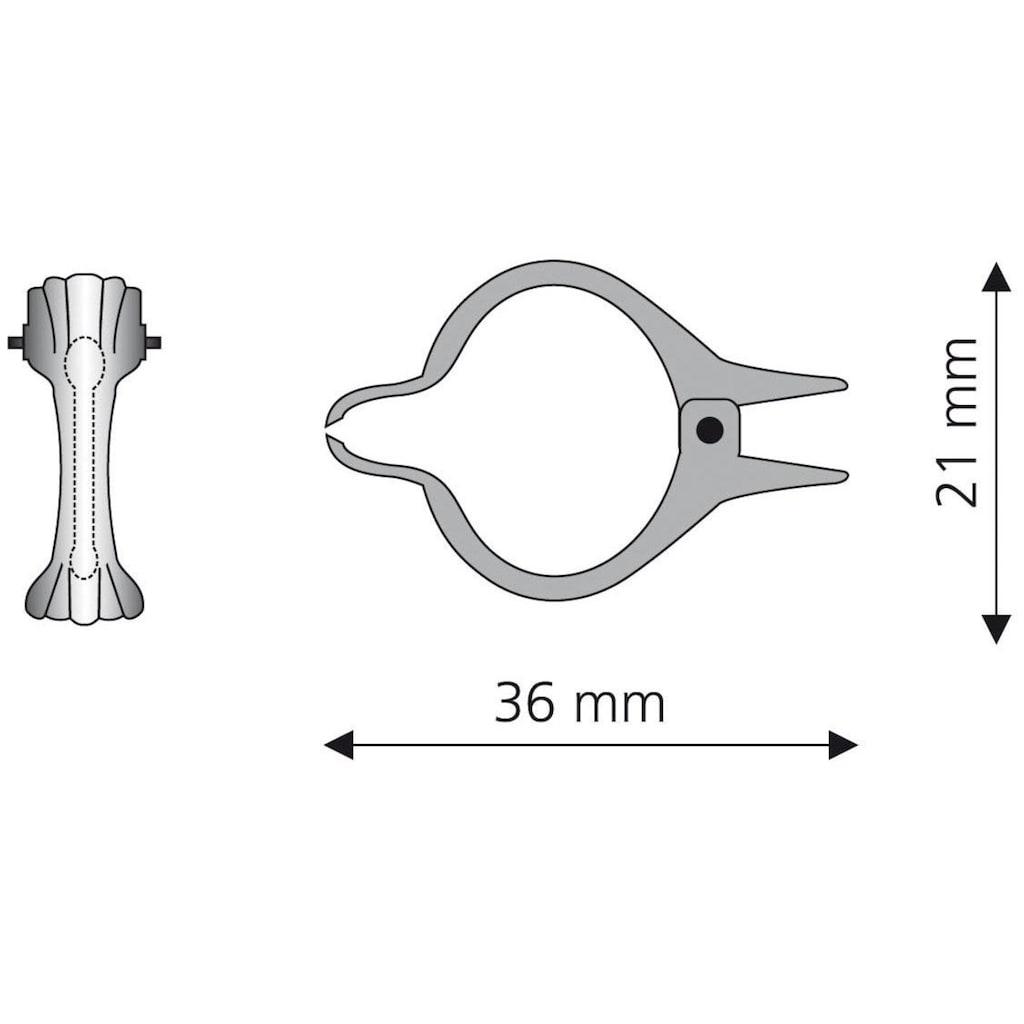 Liedeco Dekoklammer, (Packung, 8 St.), für Gardinenstangen Ø 12 mm