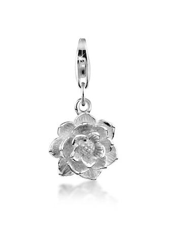 Nenalina Charm-Einhänger »Anhänger Lotus Blüte Floral Flower 925 Silber« kaufen