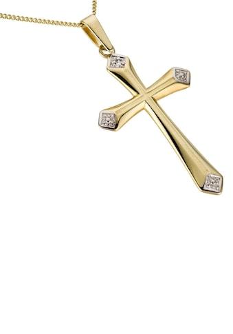 Firetti Kettenanhänger »Kreuz, glanz, rhodiniert, hohl« kaufen