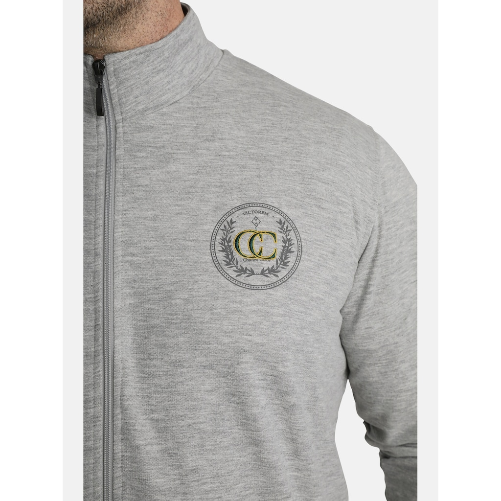 Charles Colby Sweatjacke »DUKE KORBINIAN«, Emblem auf der Brust