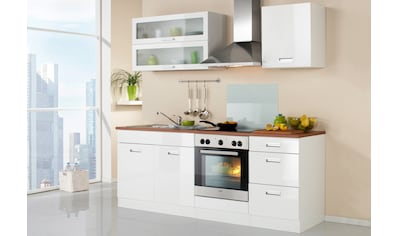 HELD MÖBEL Küchenzeile »Fulda«, ohne E-Geräte, Breite 210 cm kaufen
