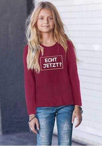 KIDSWORLD Langarmshirt »ECHT JETZT?« kaufen