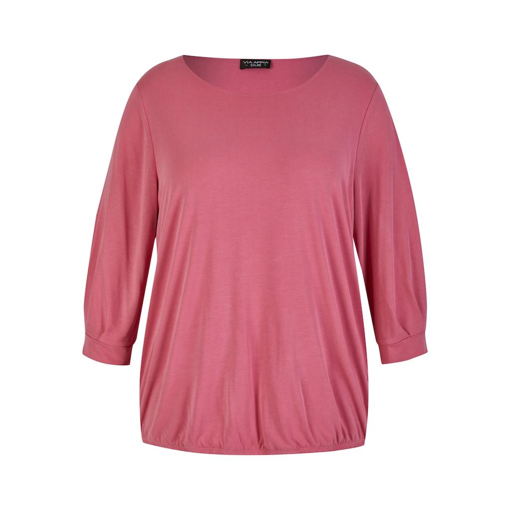 VIA APPIA DUE 3/4-Arm-Shirt, mit Gummizug-Saum Magnolie