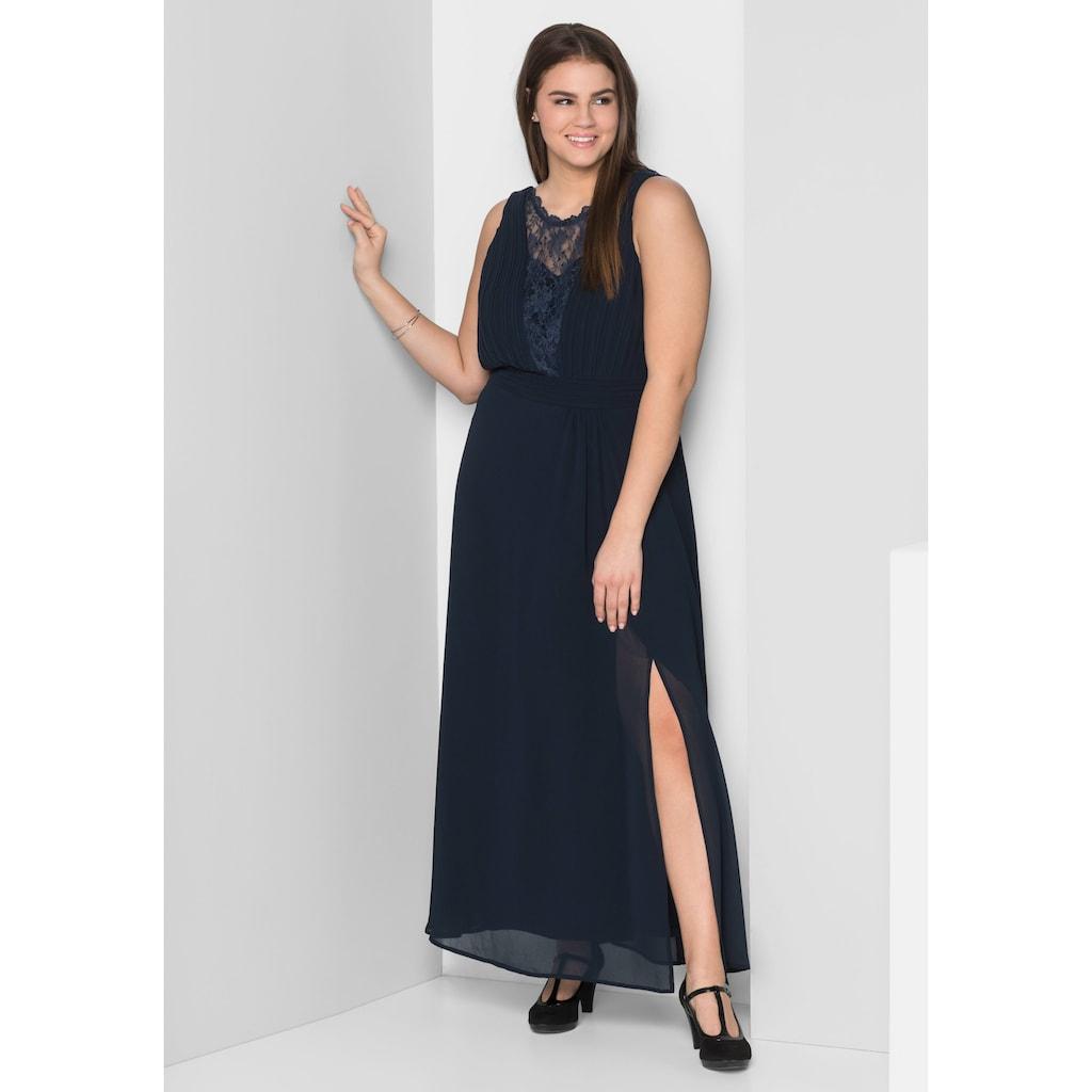 Sheego Abendkleid, mit leicht transparentem Spitzeneinsatz