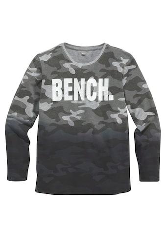 Bench. Langarmshirt »tarnfarben mit Farbverlauf« kaufen